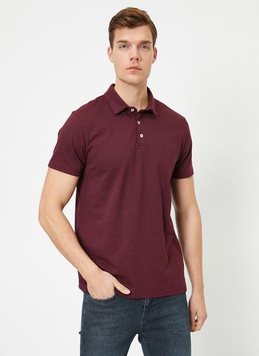 Koton Polo Yaka T-Shirt Bordo